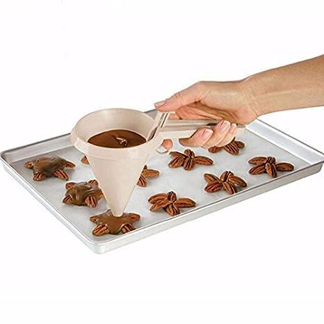 Embudo dispensador reposteria para tartas cookies muffin cupcake pancake tortitas de CHIPYHOME