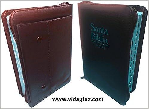 Biblia RVR 1960 Letra Grande Tamano Manual Imi Piel Vino con Cartera Cierre e Index: Reina Valera 1960: 9789587452969: Amazon.com: Books