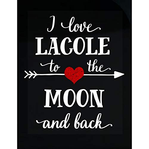Inked Creatively I Love Lacole to The Moon and Back.Gift for Boyfriend - Sticker