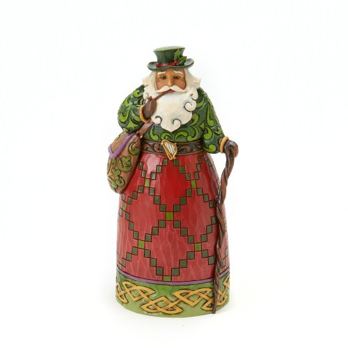 Jim Shore Frog - Jim Shore Heartwood Creek Irish Santa Stone Resin Figurine, 7