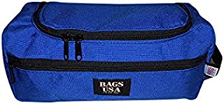 product image for Toiletry Bag with Easy Excess U Opening Side Pocket Made in U.s.a. (Blue)