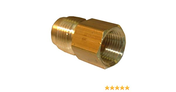 LASCO 17-5847 1//2-Inch Female Flare by 3//8-Inch Male Flare Brass Adapter