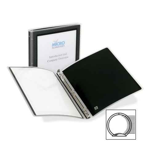 Wholesale CASE of 25 - Avery Flexi-View Presentation Binders-Flexi-View Binder, 1/2'' Capacity, Letter, 11''x8-1/2'', Black