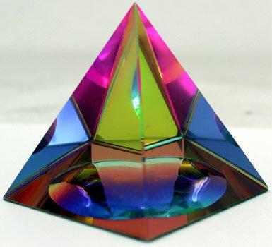 Amlong Crystal Iridescent Pyramid