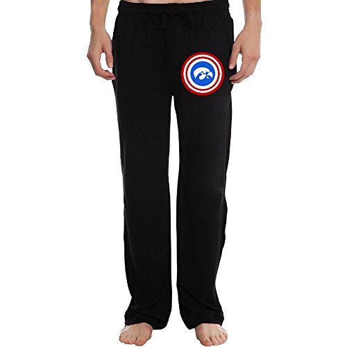 Iowa Hawkeyes Shield With Logo Running Pants For Men Black