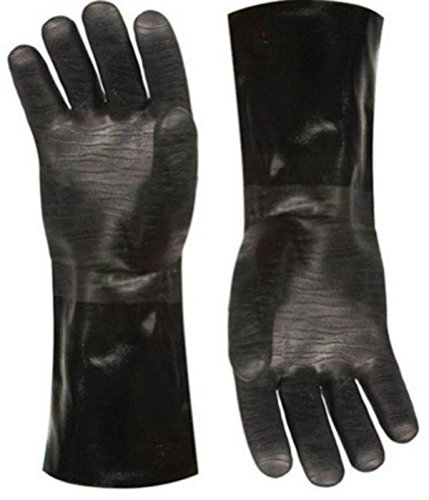 Outdoor Cooking Bbq Accessories Grill - Insulated waterproof / oil and heat resistant BBQ, smoker, grill, and cooking gloves. Use for barbecue & grilling -1 pair Size 10/XL (13 Inch)
