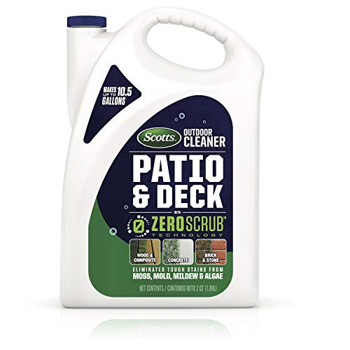 Scotts Outdoor Cleaner Patio & Deck with Zeroscrub Technology Concentrate, 0.5 Gallon (Best Moss Killer For Patios)