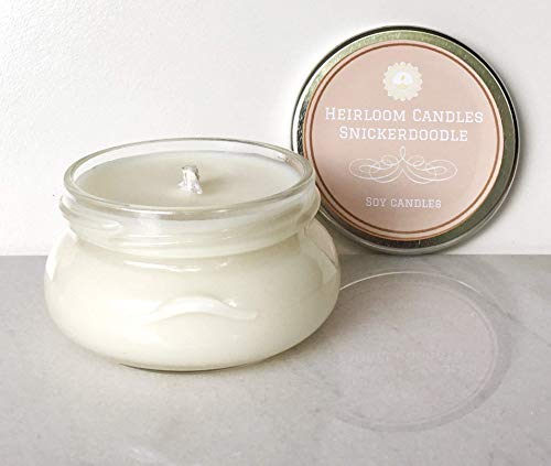 Snickerdoodle Scented Soy Candle - Holiday Cookie Candle, 6oz