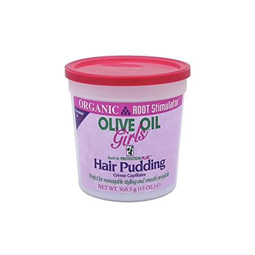 Kids Organic Olive (Organic Root Stimulator Olive Oil Girls Built-In Protectionplus Hair Pudding, 13 Ounce)
