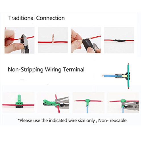 Electrical Wire Connectors T Tap Quick Splice 16 Awg With