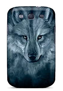 Top Quality Rugged Wolf Spirit Case Cover For Galaxy S3