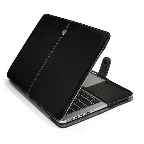 Litop Black Business Smart Holster PU Leather Case Cover Bag Sleeve for All Macbook Air 13