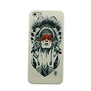 Zaki Indian Woman Pattern Hard Case for iPhone 5/5S