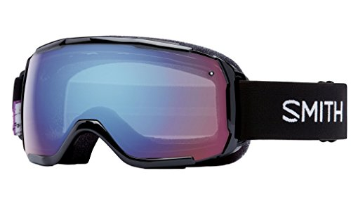 Smith Optics Grom Youth Junior Series Ski Snowmobile Goggles Eyewear - Black Angry Birds / Blue Sensor Mirror / - Mobile Sunglasses Al