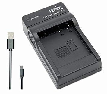 Lemix (BLE9) Cargador USB Ultra Slim para baterías Panasonic DMW-BLE9, DMW-BLG10 & DMW-BLH7E para Modelos (enumerados a continuación) PANASONIC LUMIX ...