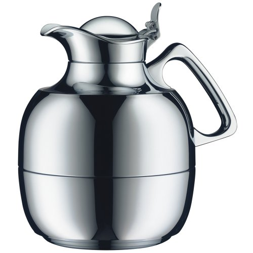 Alfi Vacuum Carafe Juwel Tea Chrome Plated Brass  34 fl. oz, 1 Liter by alfi