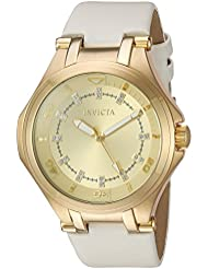 Invicta Womens Wildflower Quartz Stainless Steel Casual Watch, Color:White (Model: 21756)