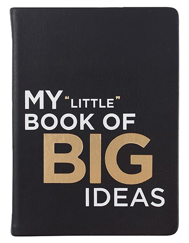 """Eccolo World Traveler Essential Collection Journal, 5 x 7"""", Black - My Little Book of Big Ideas (D316M)"""