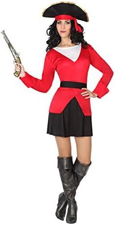 Atosa- Disfraz Mujer Pirata, Color Rojo y Negro, M-L (5622 ...
