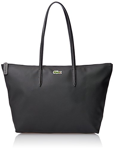 Lacoste Women's L.12.12 Concept Large Shopping Shoulder Bag, Black, One Size