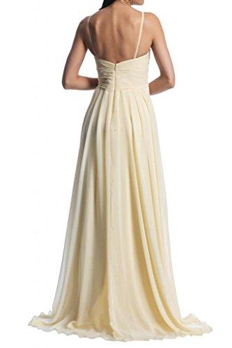Toscana sposa Scheind due-Traeger sera lungo Party un'ampia Ball Chiffon vestimento giovane a lungo abiti da sposa