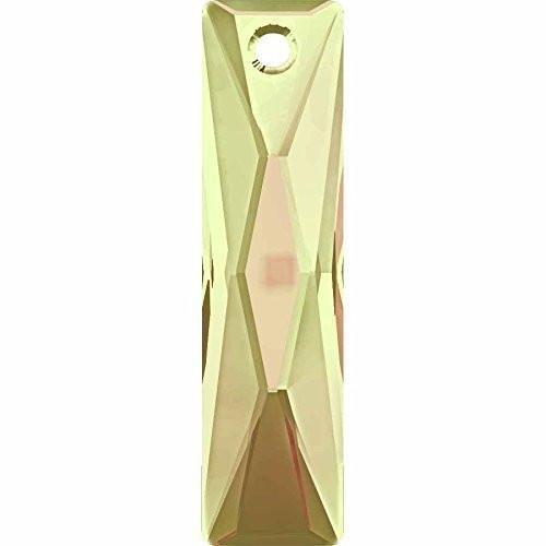 6465 Swarovski Pendant Baguette - 38mm | Crystal Luminous Green | 38mm - Pack of 1 | Small & Wholesale Packs | Free Delivery (Green Earrings Baguette)