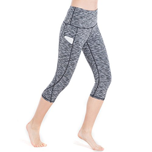 RURING Women's High Waist Yoga Pants Tummy Control 4 Way Stretch Running Pants Workout Leggings