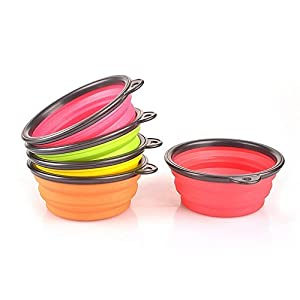 Pet Leso Pop-up Pet Bowl Travel Bowl Water Feeder Bowl Portable Bowl For Dogs Cats -Red
