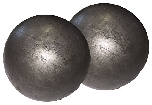 """Hollow 3"""" steel ball weldable DIY project component (2-pack)"""