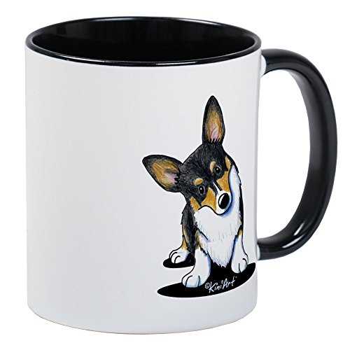 CafePress Kiniart Tricolor Corgi Mug Unique Coffee Mug, Coffee Cup ()