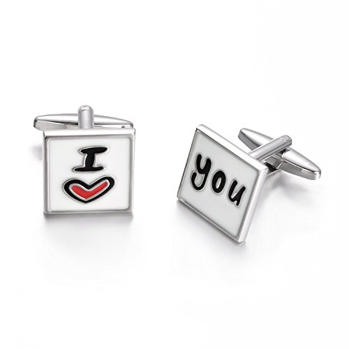 Yoursfs Father of The Bride Cufflinks, I Love You Dad, Personalized Gift for Dad...