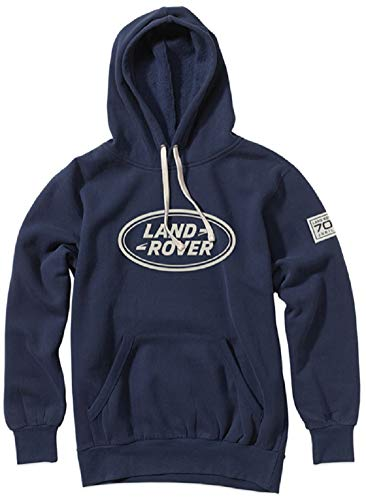 Land Rover Official Merchandise 70th Jubilee Hooded Sweatshirt Navy X-Large