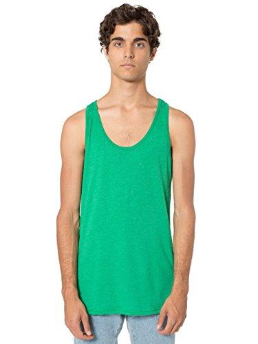 american-apparel-men-poly-cotton-tank-size-l-heather-kelly-green