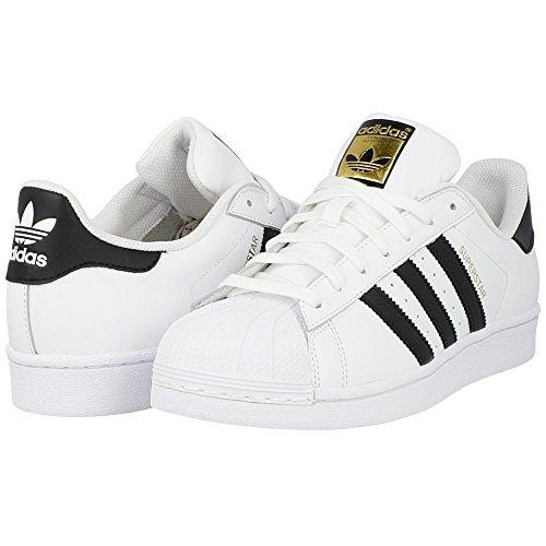 adidas Originals Men's Superstar Casual Sneaker, White/Core Black/White, 8.5 M - Stores Mens Online