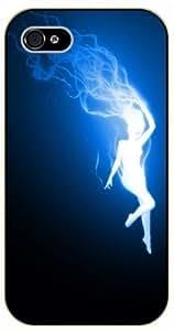 For LG G3 Case Cover Long blue hair girl - black plastic case, hot girl, girls
