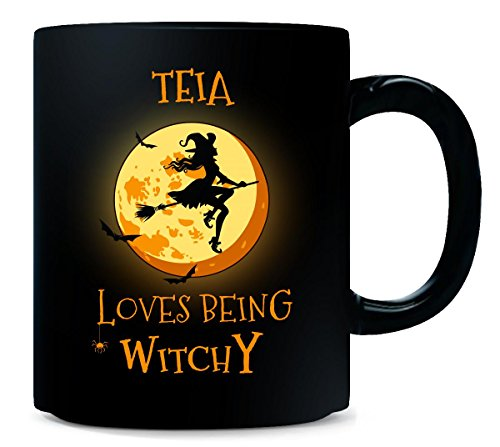 Teia Loves Being Witchy. Halloween Gift - Mug]()
