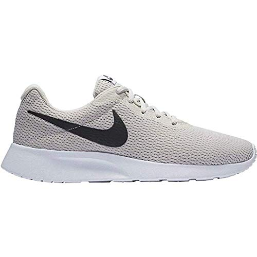 Nike Men's Tanjun Sneakers, Breathable Textile Uppers and Comfortable Lightweight Cushioning (7, Light Bone/Black-White)