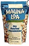 Mauna Loa Dry Roasted Macadamia Nuts & Sea Salt 4 Bags with Hawaiian Gift Basket