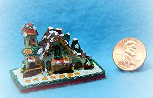 Dollhouse Gingerbread Country Cottage Christmas Decor KL1231 - Miniature Scene Supplies Your Fairy Garden - Doll House - Outdoor House Decor