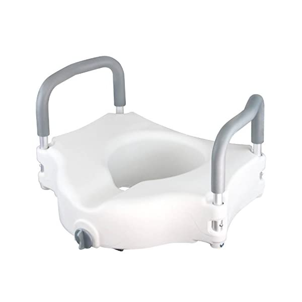 Elevated toilet seat with handles packard electrical connectors