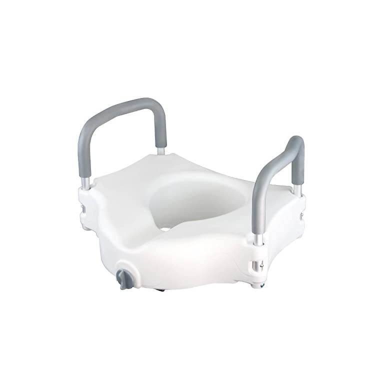 Raised Toilet Seat by Vive – Portable Elevated Riser with Padded ...