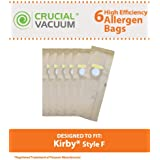 6 Type F Allergen Paper Bags for Kirby Ultimate G & Sentria Vacuums; Compare to Kirby Part No. 204808; Designed & Engineered by Think Crucial