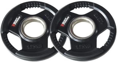 ENC de goma Bodypower Tri Grip – Disco de peso olímpico plates- 1,25 kg (X2): Amazon.es: Deportes y aire libre