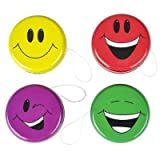 "Best YoYo For Kids - Happy Face Smiley Yo-Yos Fun Party Favors, 2"" Review"