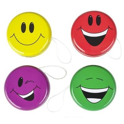 Christmas Yo Yos - Neliblu Happy Face Smiley Yo-Yos Fun Party Favors, 2