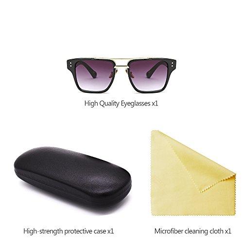 sol Hombre de Unisex Estilo Retro Gafas KINDOYO Gafas para Extragrandes UV400 Último 03 estilo y Mujers de xqFSPCI