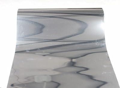 Techtongda 10ft Silver Foil PET Metal light Heat Transfer Vinyl Film For T-shirts Press Images Business (Item#002501*3.4)