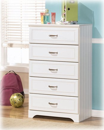Signature Design by Ashley B102-46 Lulu Collection Chest of Drawers, - Chest Collection Drawer Cottage