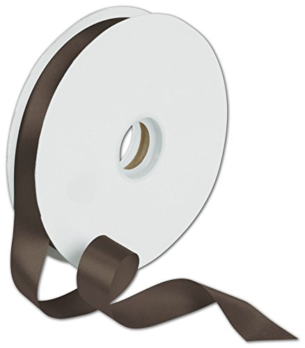 Ribbons Solid Color - Dyna Chocolate Satin Ribbon, 7/8