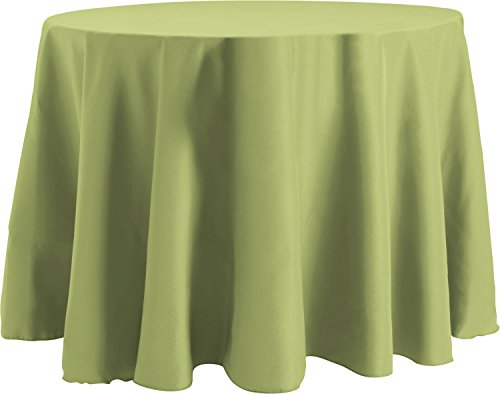 (Bright Settings 54 x 96 Inch OVAL Tablecloth, Flame Retardant Basic Polyester, Sage)